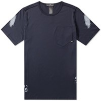 Stone Island Shadow Project Garment Dyed Graphic Tee Blue