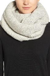 Nirvanna Designs Women's Knit Wool Infinity Scarf Grey