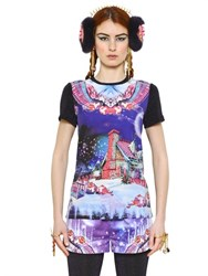 Manish Arora Candyland Cotton Crepe And Lurex T Shirt