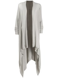 Rick Owens Oversized Cardi Coat Grey