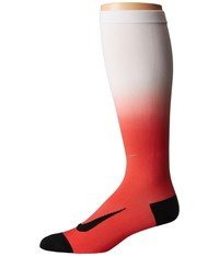 Nike Dry Elite Lightweight Fade Over The Calf Track Red Total Orange Knee High Socks Shoes
