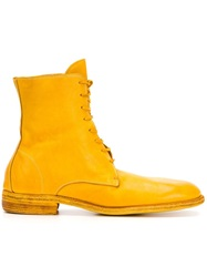 Guidi Lace Up Boots Yellow And Orange