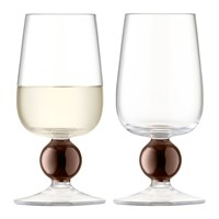 Lsa International Oro White Wine Glass Set Of 2 Copper
