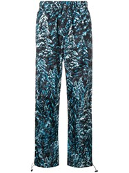 Palm Angels Pine Camouflage Print Trousers Blue