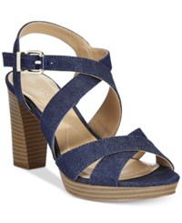 Alfani Women's Palaria Platform Sandals Only At Macy's Women's Shoes Dark Denim