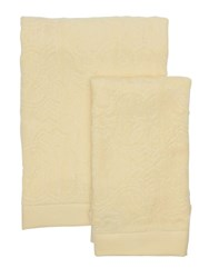 Roberto Cavalli Logo Set Of 2 Cotton Towels Beige
