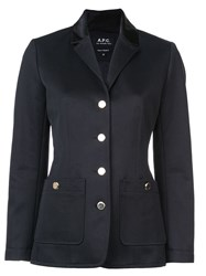 A.P.C. Single Breasted Jacket Blue