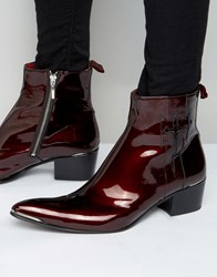Jeffery West Sylvian Zip Boots Red