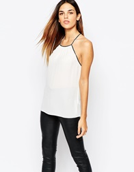 Warehouse Embellished Cami Top Neutral