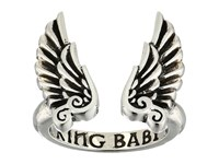 King Baby Studio Open Ring W Wings Silver