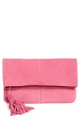Leith Suede Clutch Pink