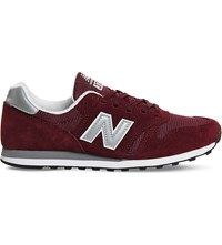 New Balance M373 Suede And Mesh Trainers Burgundy Silver