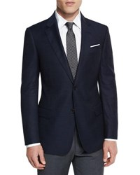Armani Collezioni G Line New Textured Two Button Sport Jacket Navy