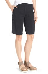 Women's Eileen Fisher Tencel Twill Tapered Shorts Black
