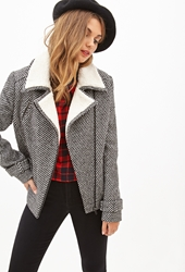 Forever 21 Tweed Moto Jacket