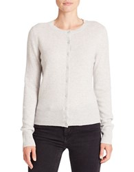 Lord And Taylor Cashmere Cardigan Light Grey