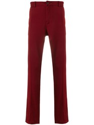 Lanvin Straight Leg Trousers Red