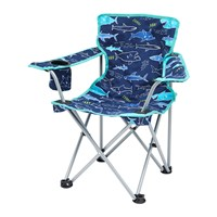 Joules Children's Folding Picnic Chair Navy Shark Facts