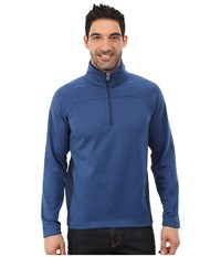 Royal Robbins Cannon 1 2 Zip Lunar Blue Men's Long Sleeve Pullover