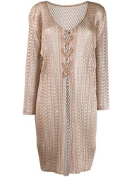 Issey Miyake Pleats Please By Woven Cardigan Neutrals