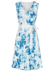 Kaliko Printed Cotton Prom Dress Sky Blue