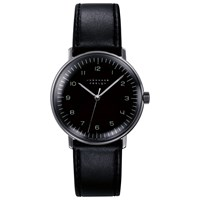 Junghans 027 3702.00 Men's Max Bill Stainless Steel Leather Strap Watch Black