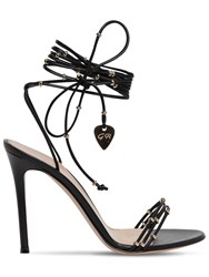 Gianvito Rossi 105Mm Embellished Leather Sandals Black
