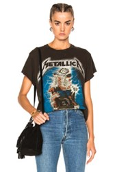 Madeworn Metallica Ride The Lightning Tee In Dirty Black In Abstract Gray Abstract Gray