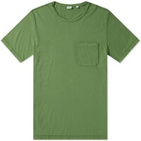 Aspesi Japanese Jersey Pocket Tee Green
