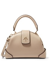 Manu Atelier Demi Mini Leather Shoulder Bag Beige
