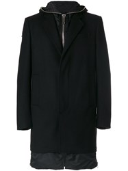 Les Hommes Classic Fitted Coat Men Wool Polyamide 50 Black