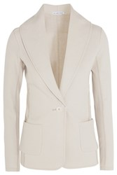 James Perse Cotton Jersey Blazer Off White
