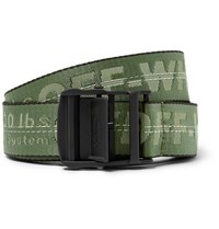 Off White 3.5Cm Green Industrial Webbing Belt Green
