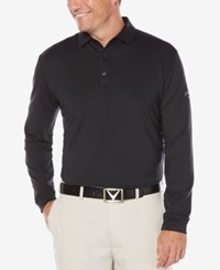 Callaway Men's Long Sleeved Golf Polo Caviar