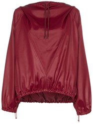 Givenchy Hi Sheen Stretch Hoodie Red