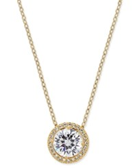 Eliot Danori 18K Gold Plated Crystal Pendant Necklace
