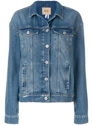 Paige Classic Fitted Denim Jacket Cotton Lyocell Blue