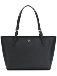 Tory Burch Small 'York' Buckle Tote Black