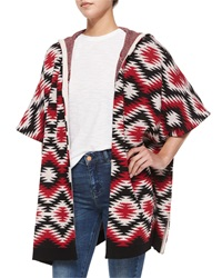 Alice Olivia Henrietta Hooded Tribal Print Topper Jacket