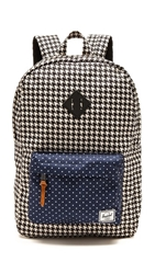 Herschel Heritage Backpack Houndstooth Navy Polka Dot