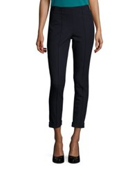 Lk Bennett Solid Cuffed Leggings Blue Sloane