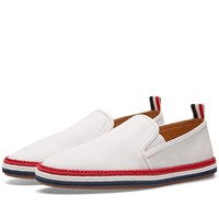 Thom Browne Coated Canvas Espadrille White