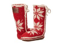 Woolrich Chalet Sock Amaryllis Slippers Red