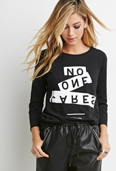 Forever 21 Cities Graphic Tee Black White
