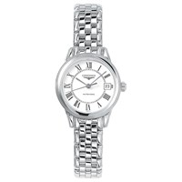 Longines L42744216 Women's Flagship Automatic Date Bracelet Strap Watch Silver White