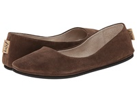 French Sole Sloop Chocolate Suede Women's Flat Shoes Brown