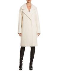 Badgley Mischka Jenna Wool Blend Coat Ivory
