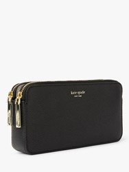 Kate Spade New York Margaux Leather Double Zip Mini Cross Body Bag Black