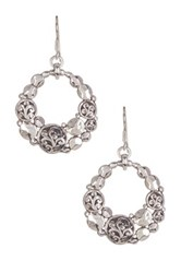 Lois Hill Sterling Silver Moon Shaped Dangle Earrings No Color