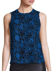 Cooper And Ella Avery Midnight Floral Tank Blue